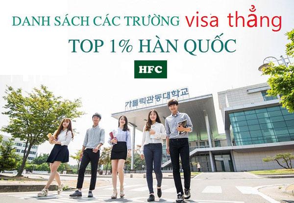 Danh sách các trường visa thẳng Hàn Quốc năm 2019