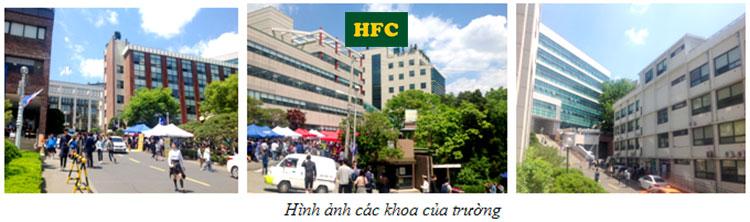 Hình ảnh các góc Đại Học Sanmyung