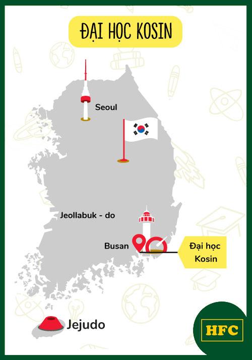 Bản đồ hệ thống trường đại học Kosin