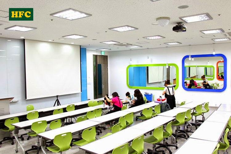 Một trong những phòng học trường Đại học JungWon