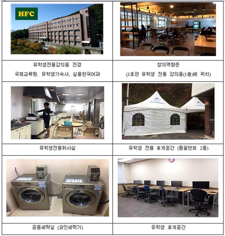 Cơ sở vật chất Cao đẳng khoa học Jeonbuk